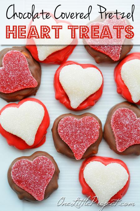 Chocolate Covered Pretzel Hearts