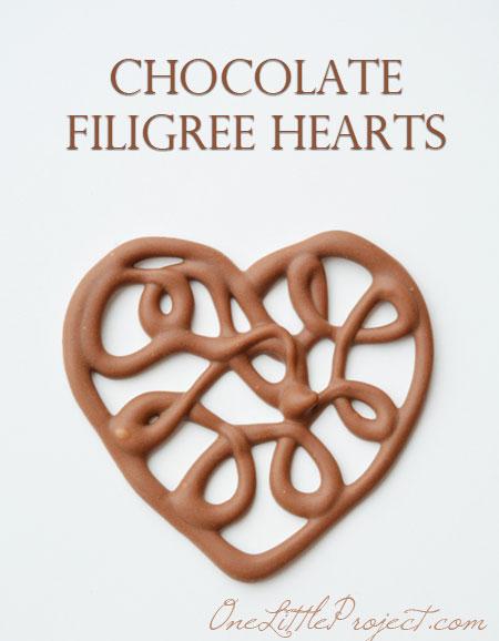 Chocolate Filiigree Hearts