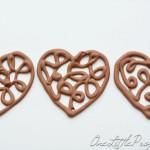 Chocolate Hearts Part 2: Chocolate Filigree Hearts