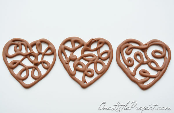 Chocoalte Filigree Hearts