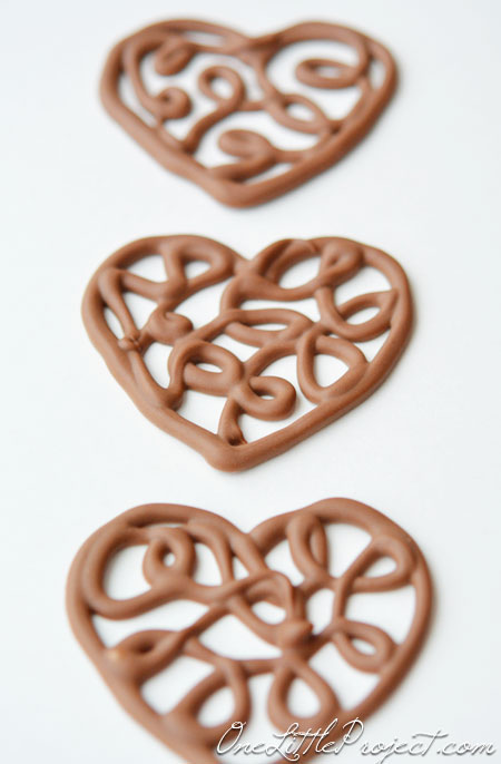 Chocolate Filigree Hearts