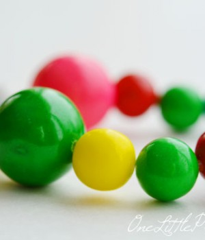 DIY Edible Gumball Necklace
