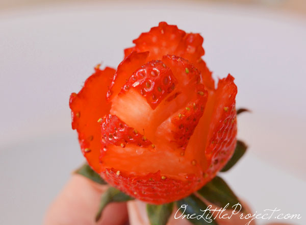 How to Make a Strawberry Rose | Strawberry Roses Bouquet