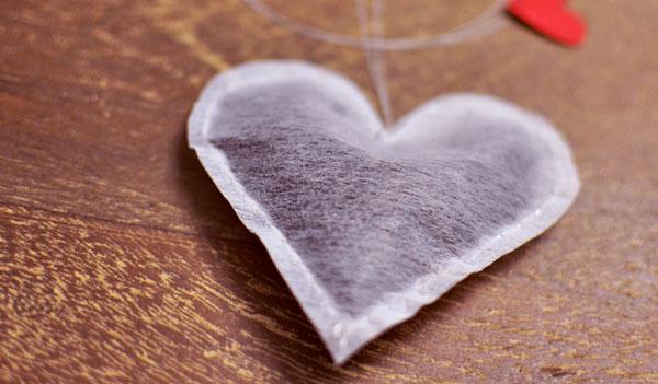 DIY Heart Shaped Tea Bag