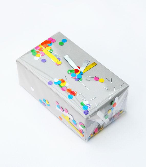 DIY Confetti Wrapping Paper