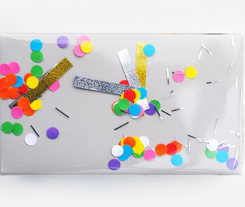 DIY Confetti Wrapping Paper