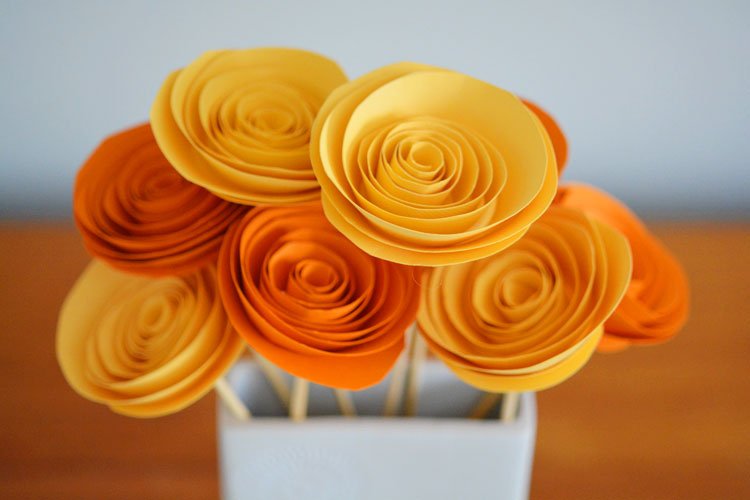 How to make rolled paper flowers mightylinksfo