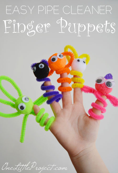 Animal Pipe Cleaner Crafts For Toddlers