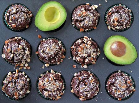 Gluten-Free-Chocolate-Avacado-Muffins