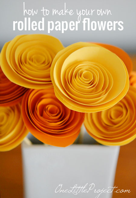 How to make rolled paper flowers for Rolled paper roses template