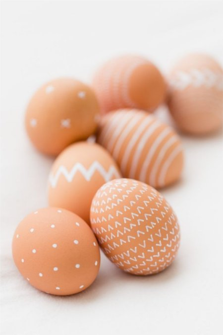 delicate neutral Easter eggs