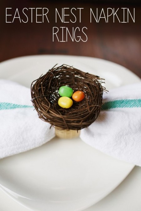 Easter nest napkin rings