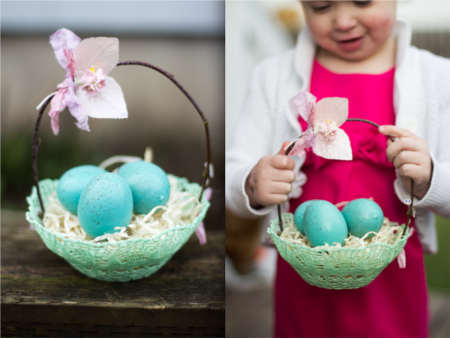delicate doily Easter basket for your stylish little girl