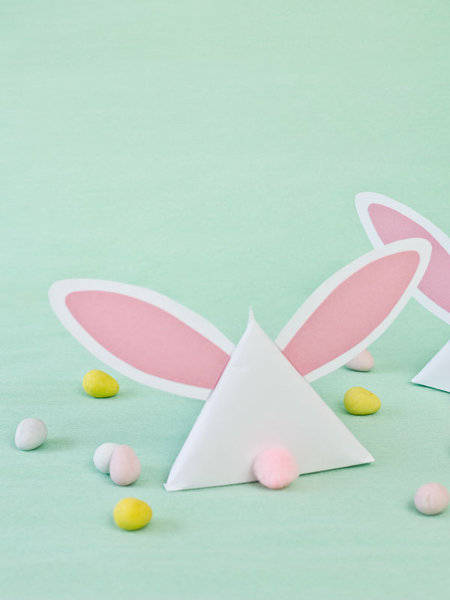 Bunny shaped treat pouches