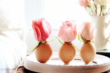 make some bud vases from eggshells
