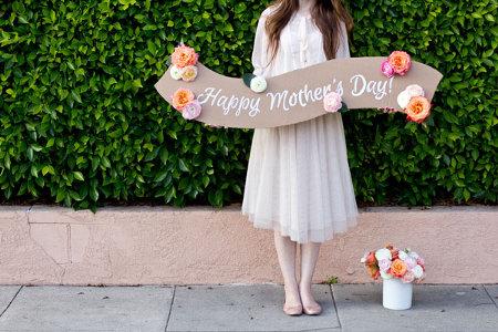 Fresh Flower Mother's Day Banner
