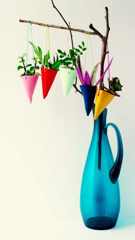 25 DIY Mother's Day Gift Ideas | Colorful hanging planters for Mother's Day