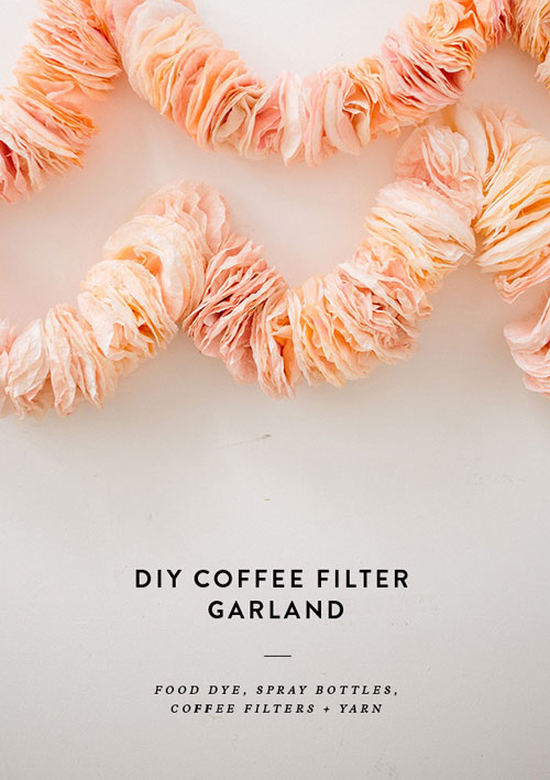 20 Beautiful Coffee Filter Crafts - Coffee Filter Garland