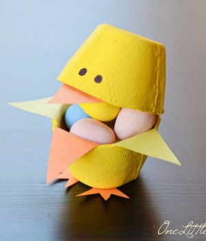 Candy-Filled Easter Egg Carton Chicks