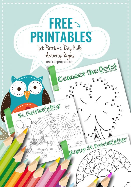 Free Printable St Patrick 39 s Day Kids 39 Activity Pages