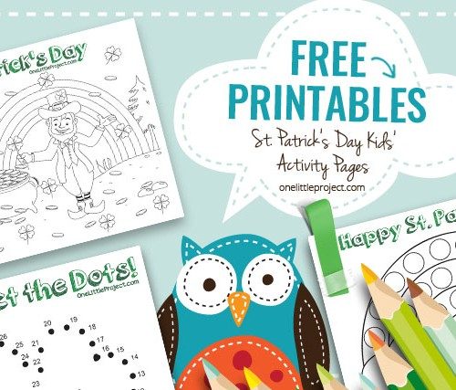 FREE Printables! St. Patrick's Day Kids' Activity Pages