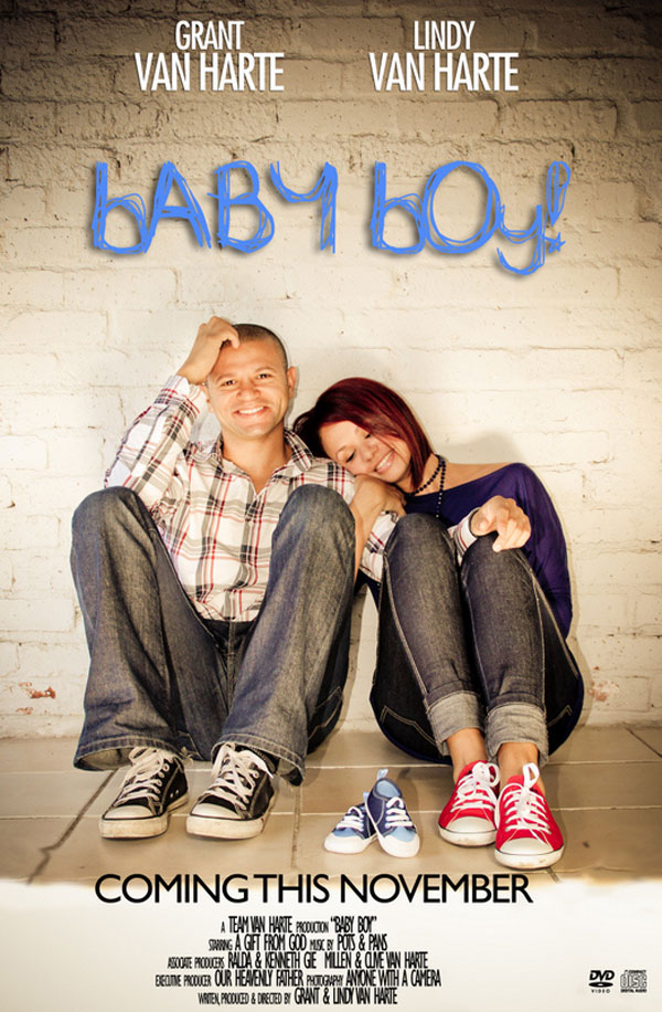 30+ Fun Photo Ideas to Announce a Pregnancy - Movie Poster Baby Boy Announcement