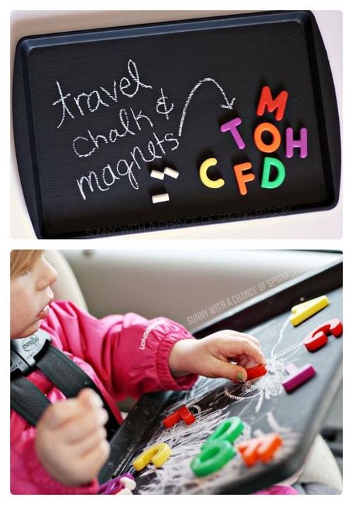 40+ DIY Travel Activities - DIY Kids Travel Activity Board