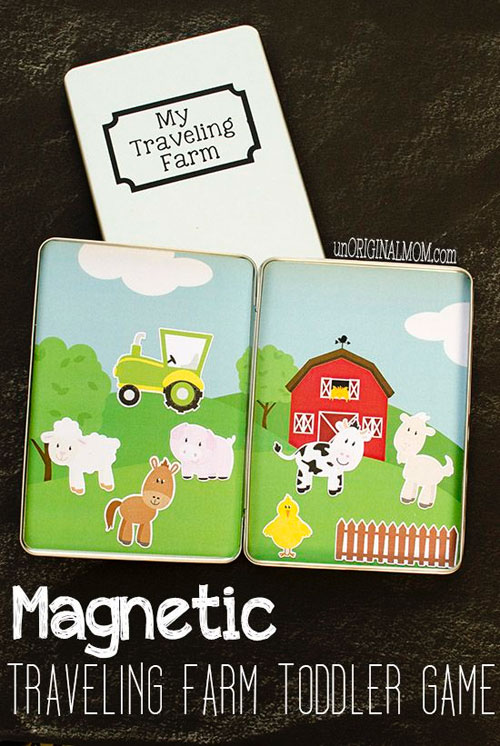 40+ DIY Travel Activities - Magnetic Travelling Farm Game