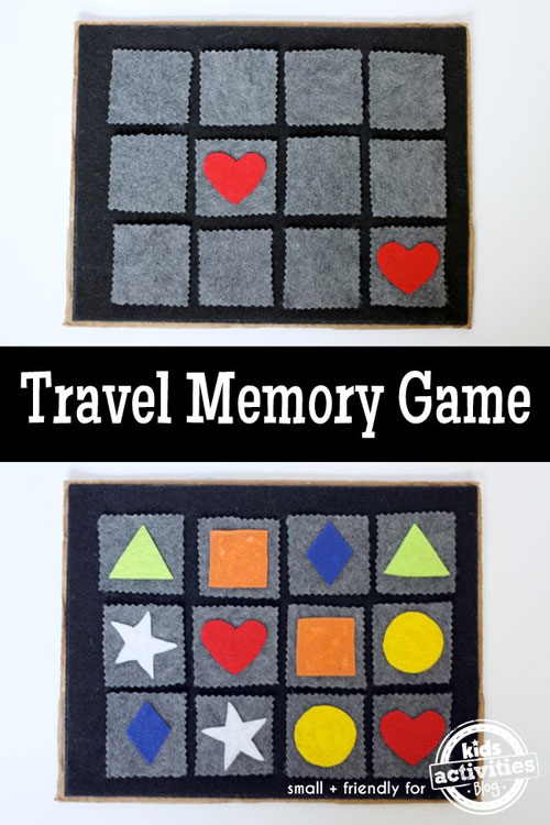 40+ DIY Travel Activities - Travel Memory Game