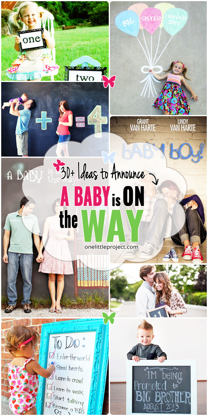 30+ Fun Photo Ideas to Announce a Pregnancy - Some of these are so cute!