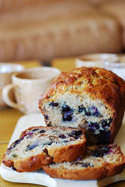 50+ Best Recipes for Fresh Blueberries - Banana Bread with Blueberries