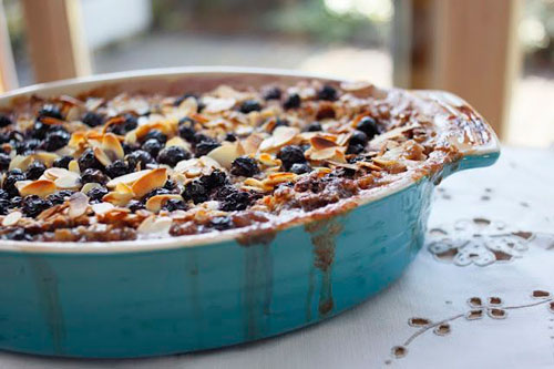50+ Best Recipes for Fresh Blueberries - Blueberry Almond Baked Oatmeal