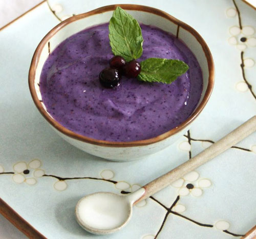 50+ Best Recipes for Fresh Blueberries - Blueberry Chai Pudding