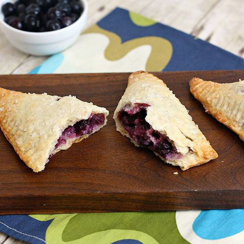 50+ Best Recipes for Fresh Blueberries - Blueberry Cream Cheese Hand Pies