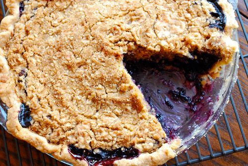 50+ Best Recipes for Fresh Blueberries - Blueberry Crumble Pie