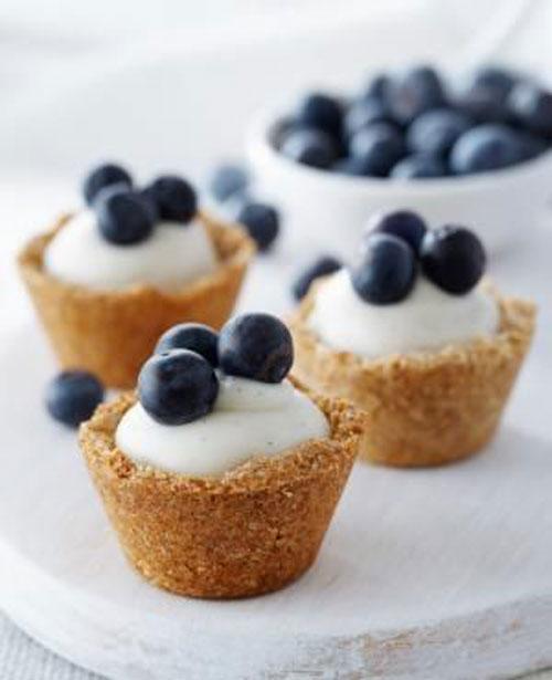 50+ Best Recipes for Fresh Blueberries - Blueberry Custard Mini Tarts