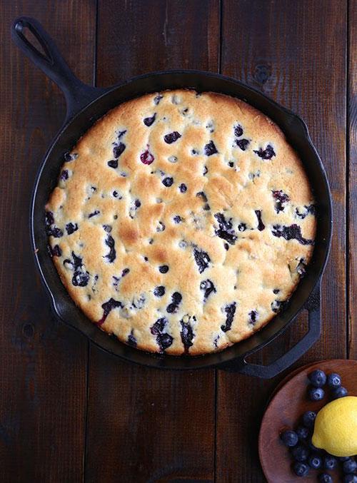 50+ Best Recipes for Fresh Blueberries - Blueberry Lemon Cake