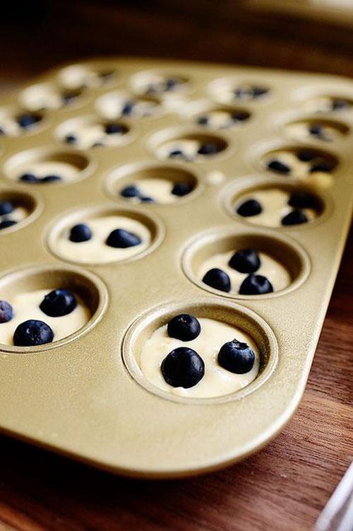 50+ Best Recipes for Fresh Blueberries - Blueberry Pancake Mini Muffins