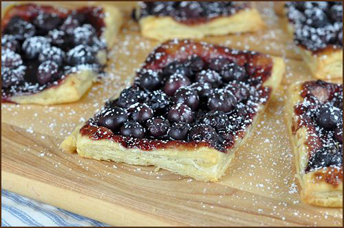 50+ Best Recipes for Fresh Blueberries - Blueberry Puff Pastry Tart
