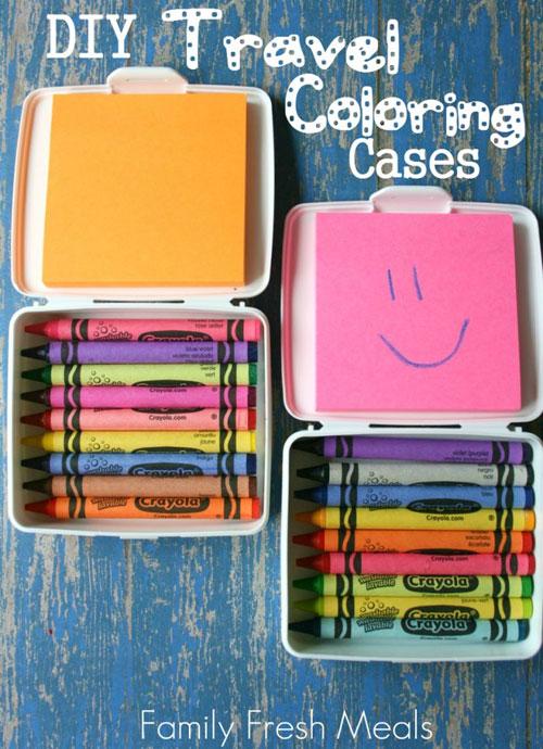 40+ DIY Travel Activities - DIY Travel Coloring Cases