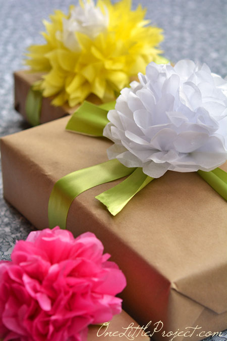 Gift wrapping with tissue paper flowers mightylinksfo Gallery