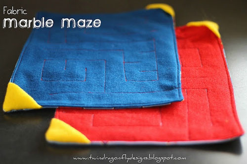 40+ DIY Travel Activities - Fabric Maze