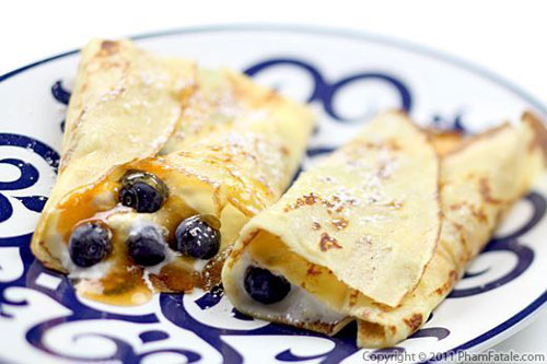 50+ Best Recipes for Fresh Blueberries - Fresh Blueberry Crepes