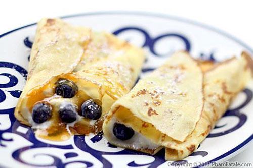 50+ Best Recipes for Fresh Blueberries - Fresh Blueberry Crepes