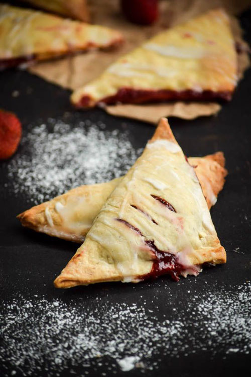 50+ Best Recipes for Fresh Strawberries - Fresh Strawberry Turnovers