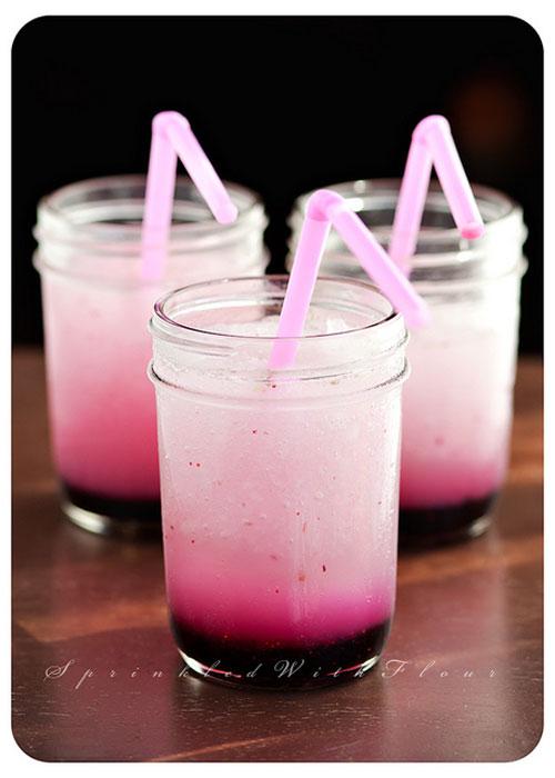50+ Best Recipes for Fresh Blueberries - Frozen Blueberry Lemonade