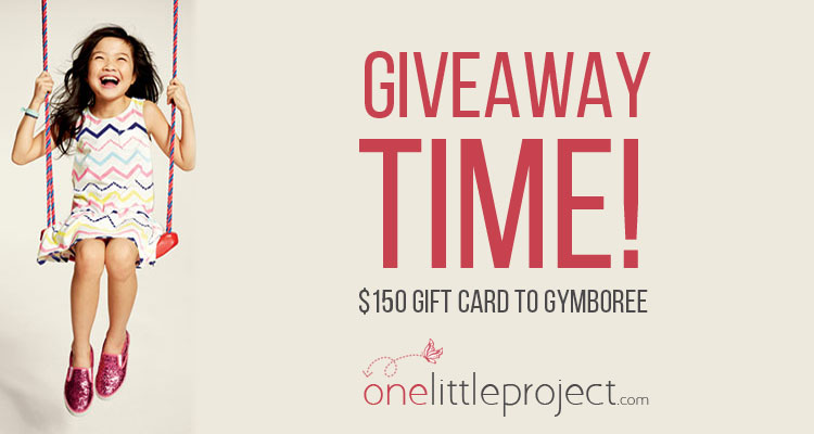 $150 Gymboree Gift Card Giveaway from One Little Project!  Ends May 21st, 2015