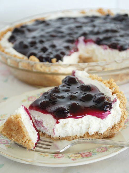 50+ Best Recipes for Fresh Blueberries - No Bake Blueberry Cheesecake