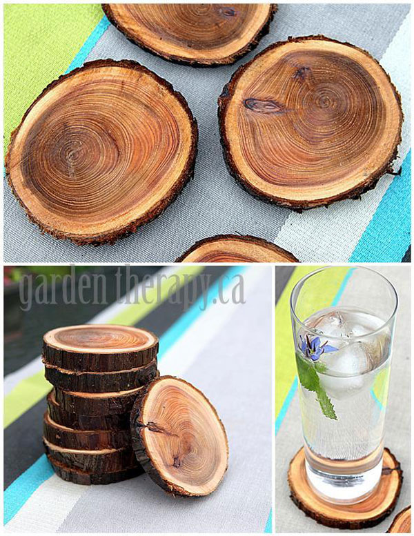 Eco-Friendly Homemade Mother's Day Gift Ideas - Recycling Tree Branches into Coasters