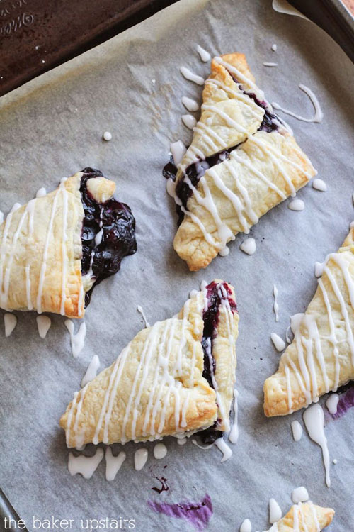 50+ Best Recipes for Fresh Blueberries - Simple Blueberry Turnovers